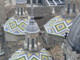 Tiled Domes of Cathedral (Basilica De Nuestra Senora Del Pilar), from Main Dome Photographic Print by David Borland