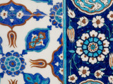 Detail of Tiles in Rustem Pasa Mosque Photographic Print by Jean-pierre Lescourret