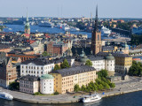 Overlooking Gamla Stan, Old City, from City Hall Tower Fotodruck von Christopher Groenhout