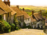 Gold Hill Houses and Surrounding Countryside Photographic Print by Glenn Beanland