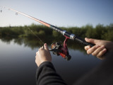 Fishing from Houseboat on Shannon-Erne Waterway Photographic Print by Holger Leue