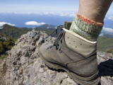 Hiker&#39;s Boot on Summit of Pico Ruivo Mountain Photographic Print by Holger Leue