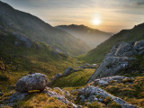 Ladhar Bheinn Mountain (In Background) from the East at Sunset, Knoydart Peninsula Stampa fotografica di Feargus Cooney