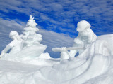 Snow Sculpture 'Kelly's Whitewater Park' at Mccall Winter Carnival. Photographic Print by David Ryan