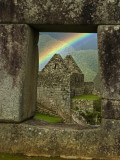 Rainbow Seen Through Temple of Three Windows Photographic Print by Emily Riddell