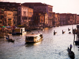 Vaporetto and Gondolas on the Grand Canal Photographic Print by Glenn Beanland