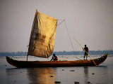 Sail Canoe on Vembanad Lake Photographic Print by Craig Pershouse