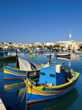Marsaxlokk Harbour Photographic Print by Jean-pierre Lescourret