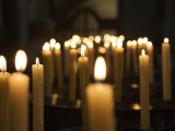 Candles Inside Cathedral Se Do Funchal Photographic Print by Holger Leue