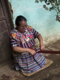 Kakchiquel Woman Weaving Photographic Print by Diego Lezama