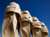 Chimney Pots on Roof of Casa Mila, also known as La Pedrera, Designed by Antoni Gaudi Photographic Print by Kimberley Coole