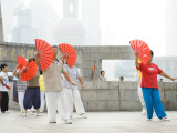 Tai Chi on the Bund Promenade Photographic Print by Greg Elms