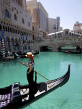 The Venetian Hotel and Gondola Photographic Print by Carol Polich