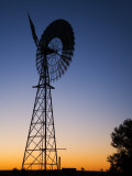 Windmill Silhouetted at Sunset Photographic Print by David Wall