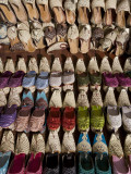Shoes on Market Stall in Bur Dubai (North) Photographic Print by Michael Coyne