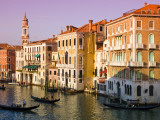 Gondolas on the The Grand Canal Photographic Print by Glenn Beanland