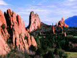 Rock Formations Extending into Valley, Garden of the Gods Park Photographic Print by Charles Cook