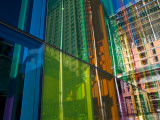 Coloured Glass Panels on Palais Des Congres Photographic Print by Olivier Cirendini