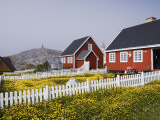 Kolonihavn Buildings and Flower Meadows Photographic Print by Holger Leue