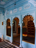 Interior of Bheem Vilas, City Palace Photographic Print by Kimberley Coole