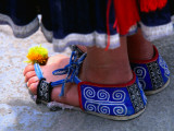 Detail of Tip Top Miao Woman's Traditional Shoes Photographic Print by Keren Su