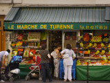 Le Marche De Turenne Fruit and Vegetable Shop on Rue Turenne in the Marais Near Place Des Vosges Photographic Print by Frank Wing
