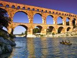 Canoeing Near Pont Du Gard Photographic Print by Glenn Beanland
