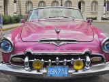 Classic Pink Desoto Taxi Car Photographic Print by Frank Carter