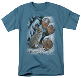 Wildlife - Wood Pile Rabbit Shirts