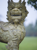 Statue in Gardens of Hue Imperial City Citadel Photographic Print by Holger Leue