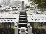 Graveyard with Headstones Covered with Snow Photographic Print by Frank Carter