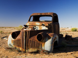 Derelict Truck Near Farina Ghost Town, Lyndhurst-Marree Road Photographic Print by David Wall