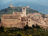 Church of St Francis in Walled Town of Assissi Photographic Print by Frank Wing