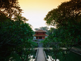 Sunset over Pavillion Inside Grounds of Tomb of Minh Mang, Ruler from 1820-40 Photographic Print by Mark Daffey