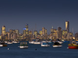 Melbourne Skyline from Williamstown Photographic Print by Glenn Beanland