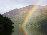Rainbow over Loch Lomond, Loch Lomond and the Trossachs National Park Photographic Print by Feargus Cooney