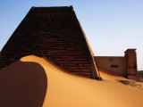 Pyramids and Tombs in Royal Cemetery, Meroe North of Khartoum Photographic Print by David Else