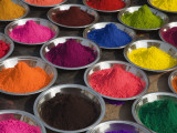 Colurful Holi Festival Powders Photographic Print by Christer Fredriksson