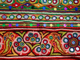 Detail of Embroidered Bag Photographic Print by Kimberley Coole