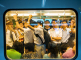 Peak Hour Commuters on Shanghai Metro, Line 2 Photographic Print by Greg Elms