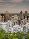 Cityscape from Top of Parc Du Mont-Royal Photographic Print by Olivier Cirendini