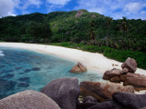 Granite Boulders of Anse Cocos Beach Photographic Print by Jean-Bernard Carillet