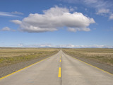 Highway from Punta Arenas Photographic Print by John Elk III