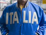 Man Wearing Blue Italia Jacket Photographic Print by Holger Leue