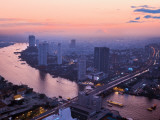 Bangkok Cityscape Photographic Print by Jean-pierre Lescourret