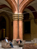 Colonnade in Historic Municipal Building on Palazzo Dei Banchi Photographic Print by Frank Wing