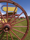 Wagon Wheel at Museo Del Recuerdo Pioneer Museum Photographic Print by John Elk III