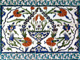 Iznik Tiles Detail at Hunkar Kasri Photographic Print by Izzet Keribar