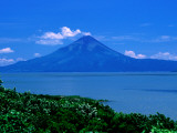 Lake Managua and Momotombo Volcano Photographic Print by Kraig Lieb