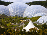 Three Biomes of the Eden Project, Largest Greenhouses in the World Photographic Print by Glenn Beanland